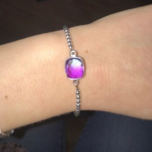 Purple & Blue Gem Bracelet